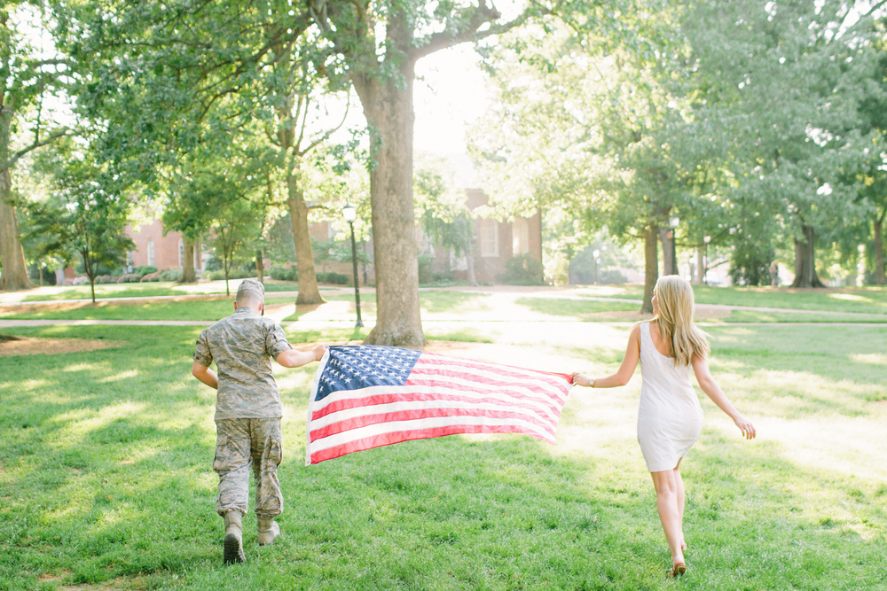 A Military Engagement with American Flag by Emily March | Cottage Hill