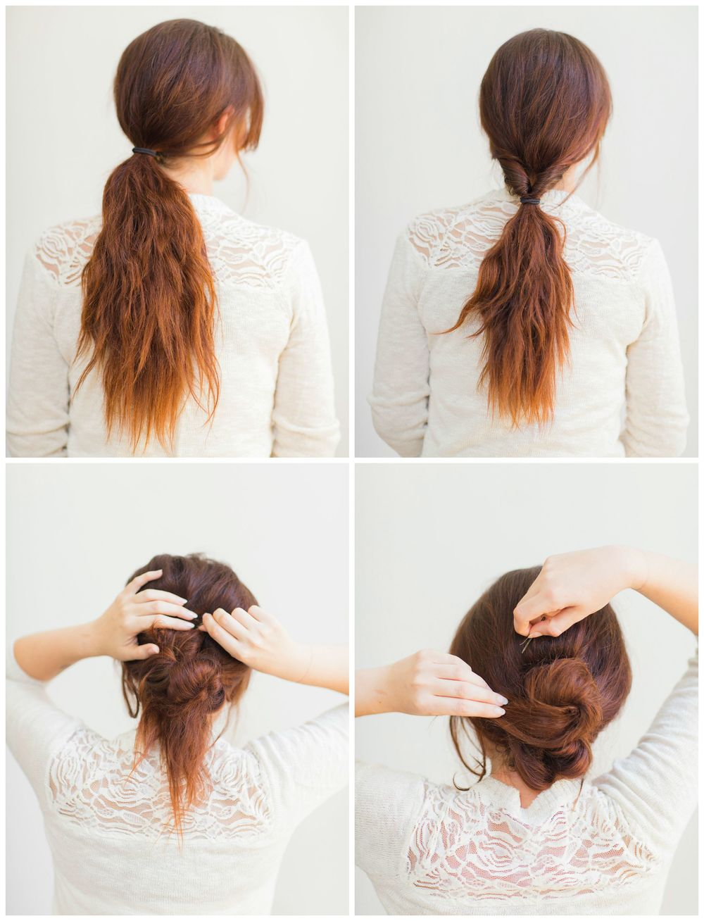 Simple chignon tutorial - Chignon original ...