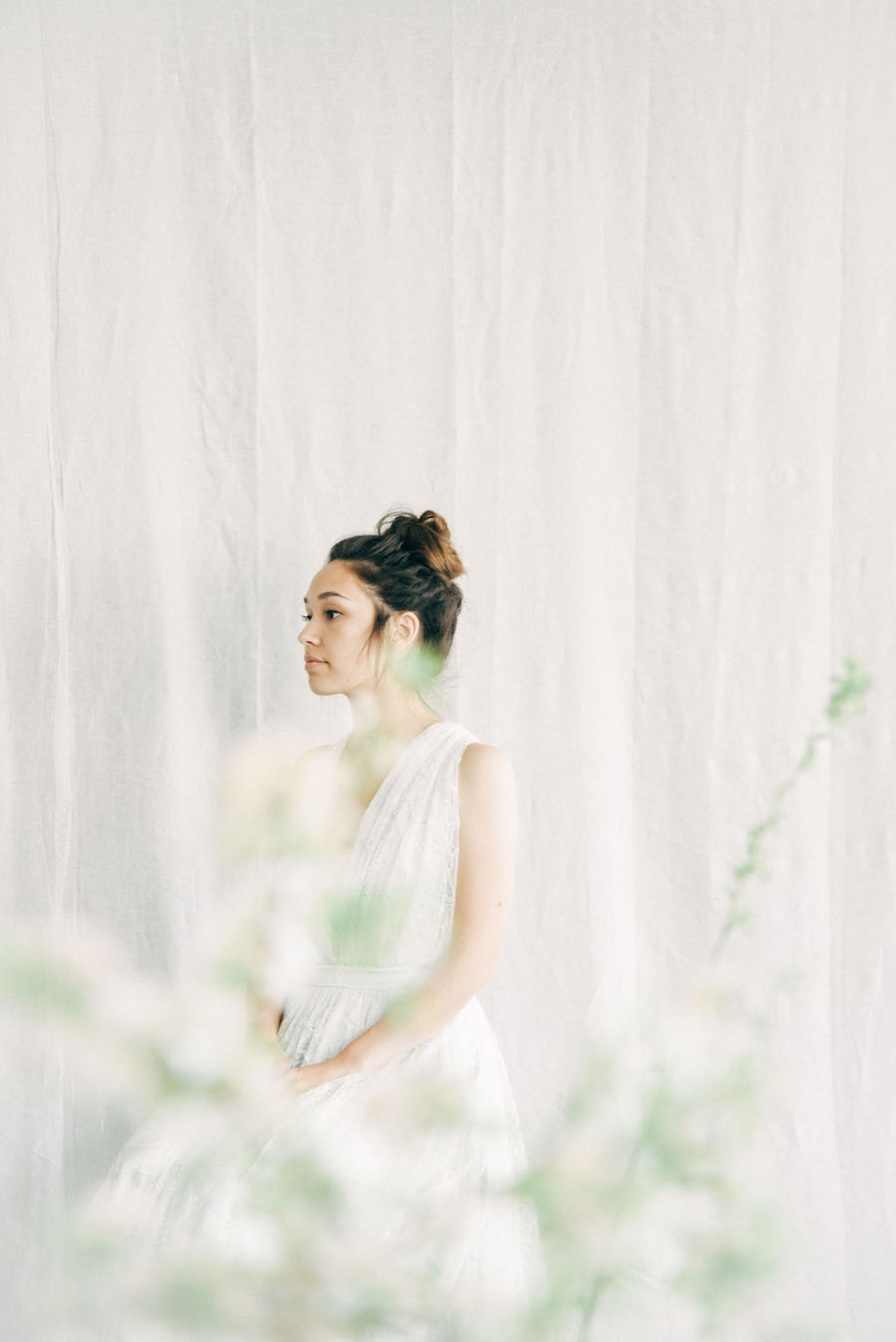 A bride waits. See more from Soil & Stem's Spring Floral Design Workshop now on Cottage Hill