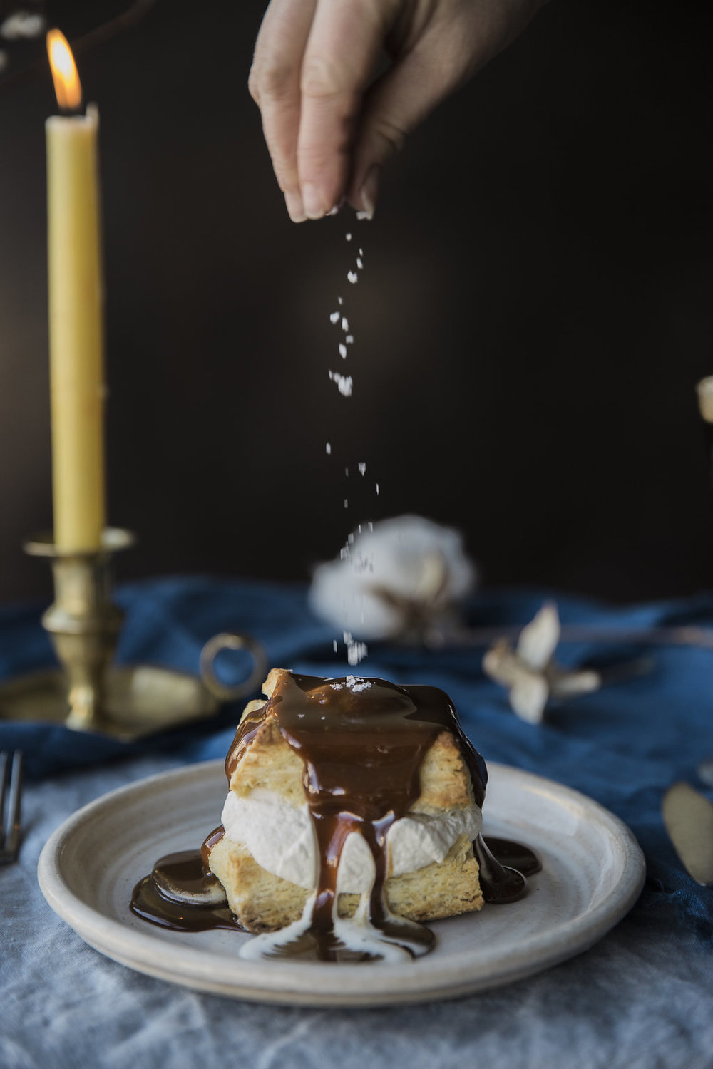 A Hygge-Inspired Evening With Cheese Spread, Poached Pears and Homemade Butter Biscuits with Molasses Caramel Sauce now on Cottage Hill