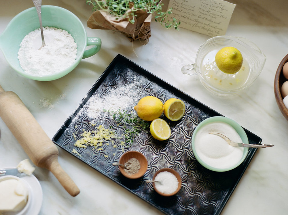 Lemon-Thyme Cookies Recipe and Farm to Table Inspiration with Wildcraft Flowers now on Cottage Hill