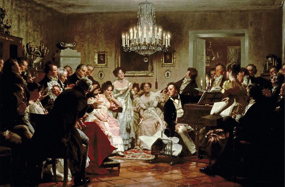 """Schubertiade"", Julius Schmid, 1897"