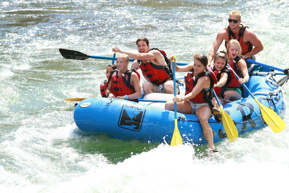 Salmon River Challenge rafting on the Salmon River near Riggins and McCall Idaho.