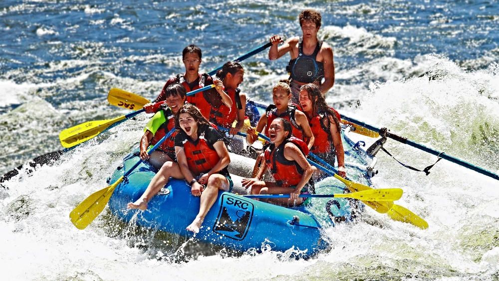 Whitewater rafting with big laughs on the Salmon River in Idaho
