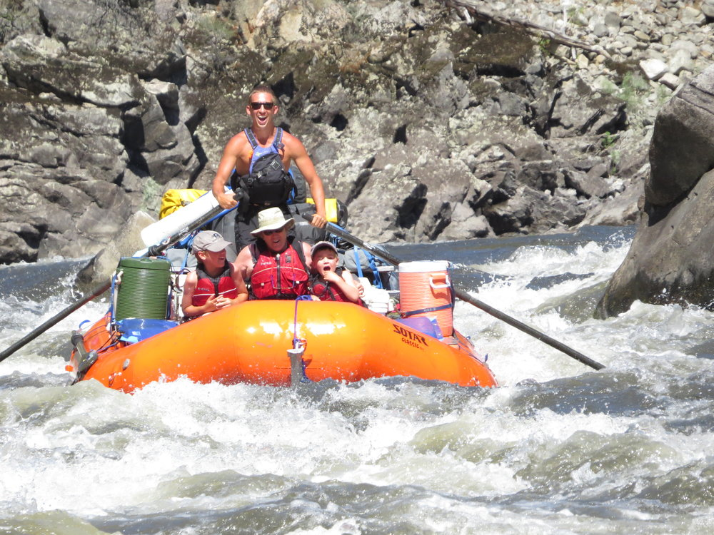 Family rafting the Main Salmon River