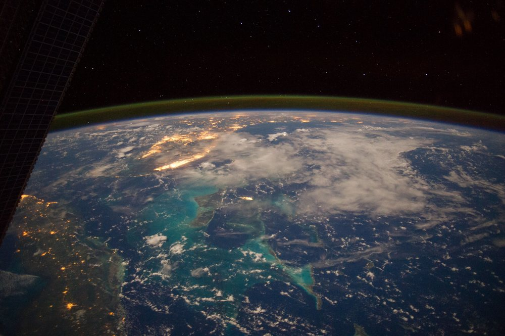 The Caribbean Sea, as seen from ISS Expedition 40