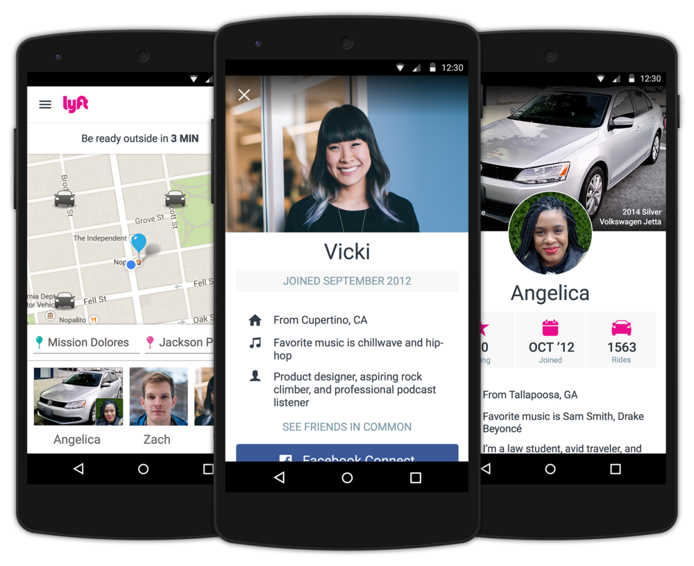 lyft profiles android