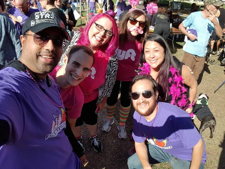 Austin Lyft drivers came together to donate their tips and fundraise in the fight against AIDS. Together they raised over $4,000 for the Austin AIDS Walk.
