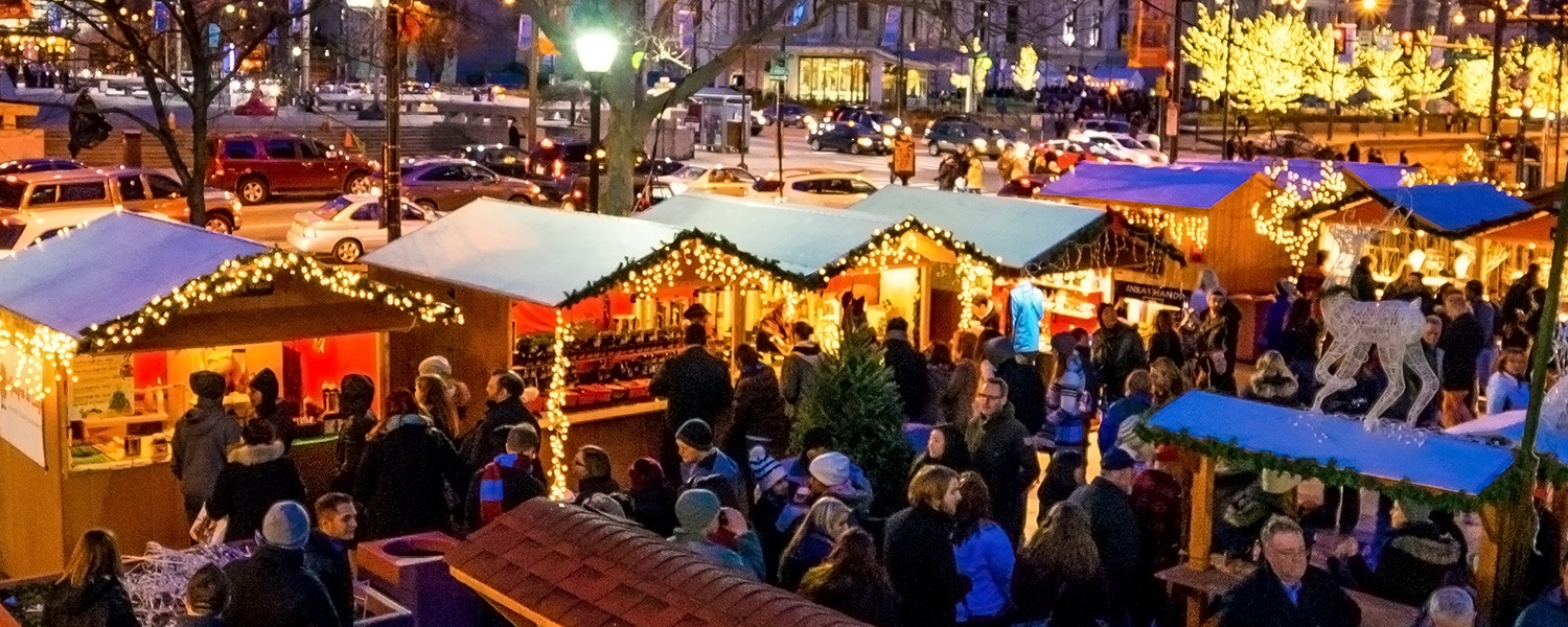 lyft is your ride to christmas village philadelphia