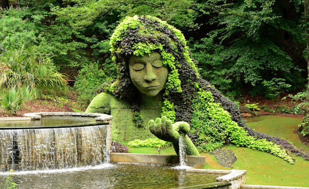 """Earth Goddess"" sculpture at the Atlanta Botanical Gardens"