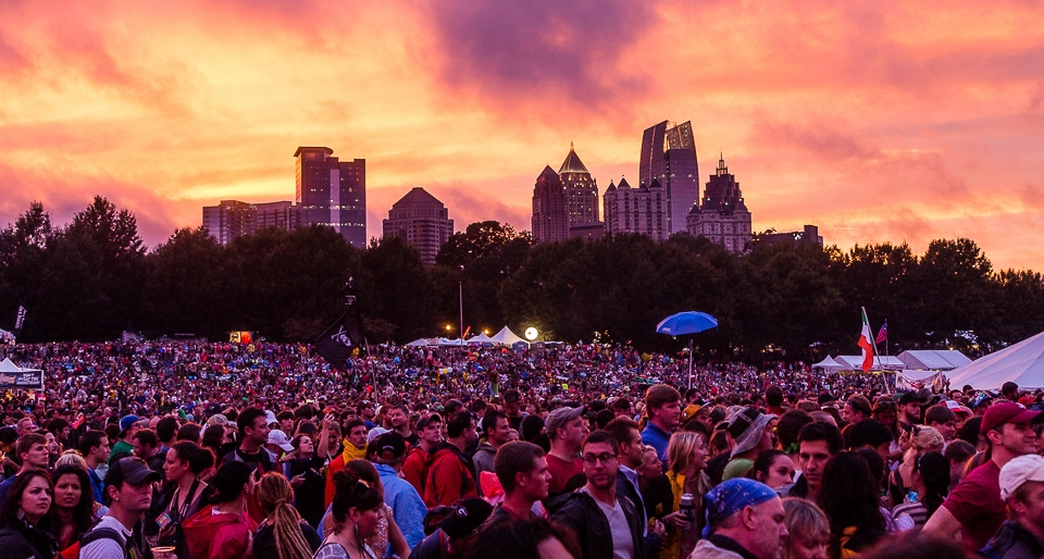 Festival goers at Music Midtown