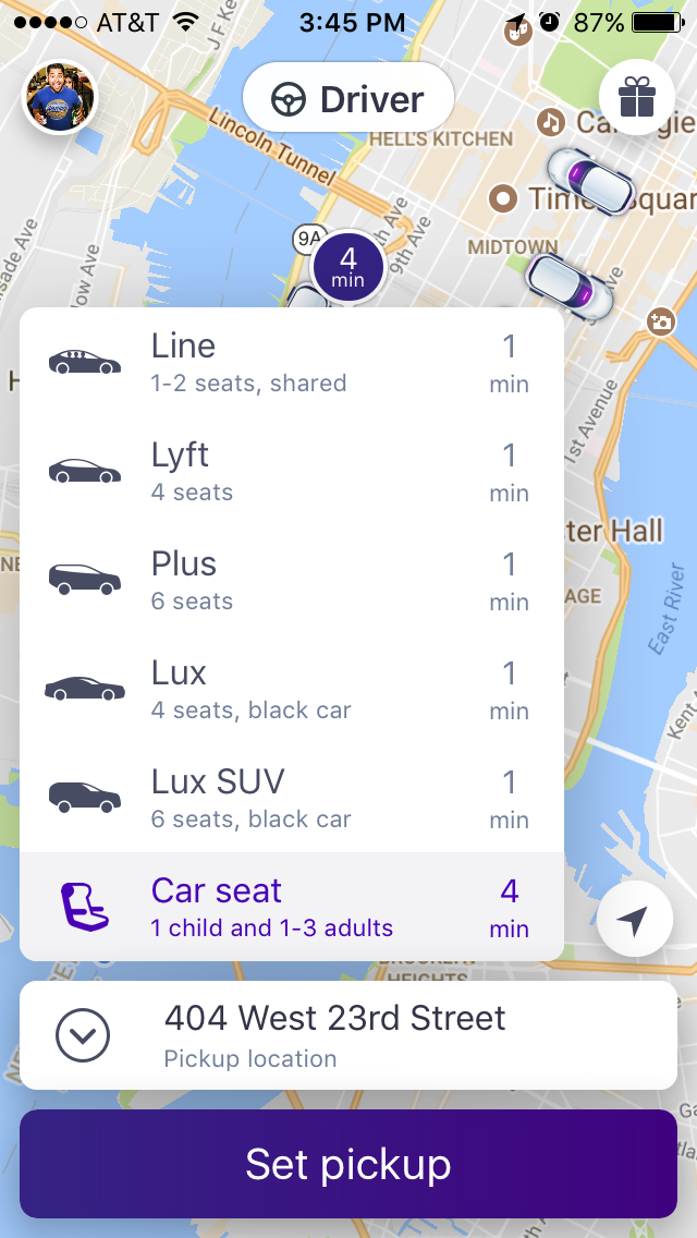 Download Or Update And Open The Lyft App Tap Car Icon To