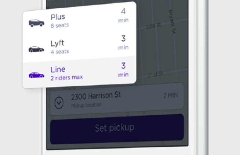 Save with Lyft Line  Share a Line ride to split the cost with others heading the same way.