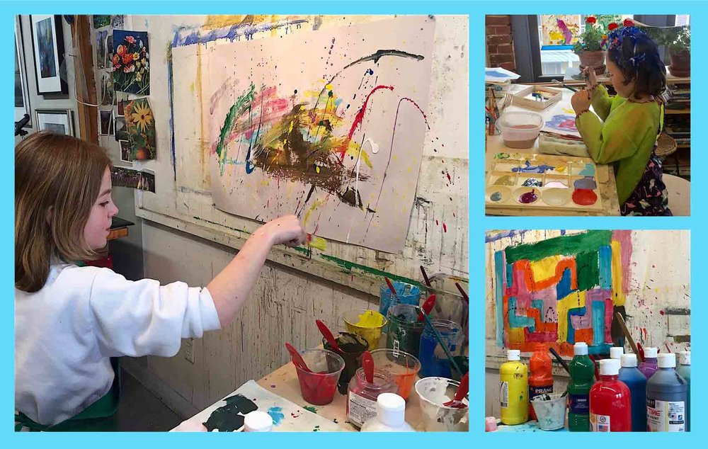 Michèle J. Kenna teaches children ages 8 to 12 about art and composition in her studio in Beverly, MA.