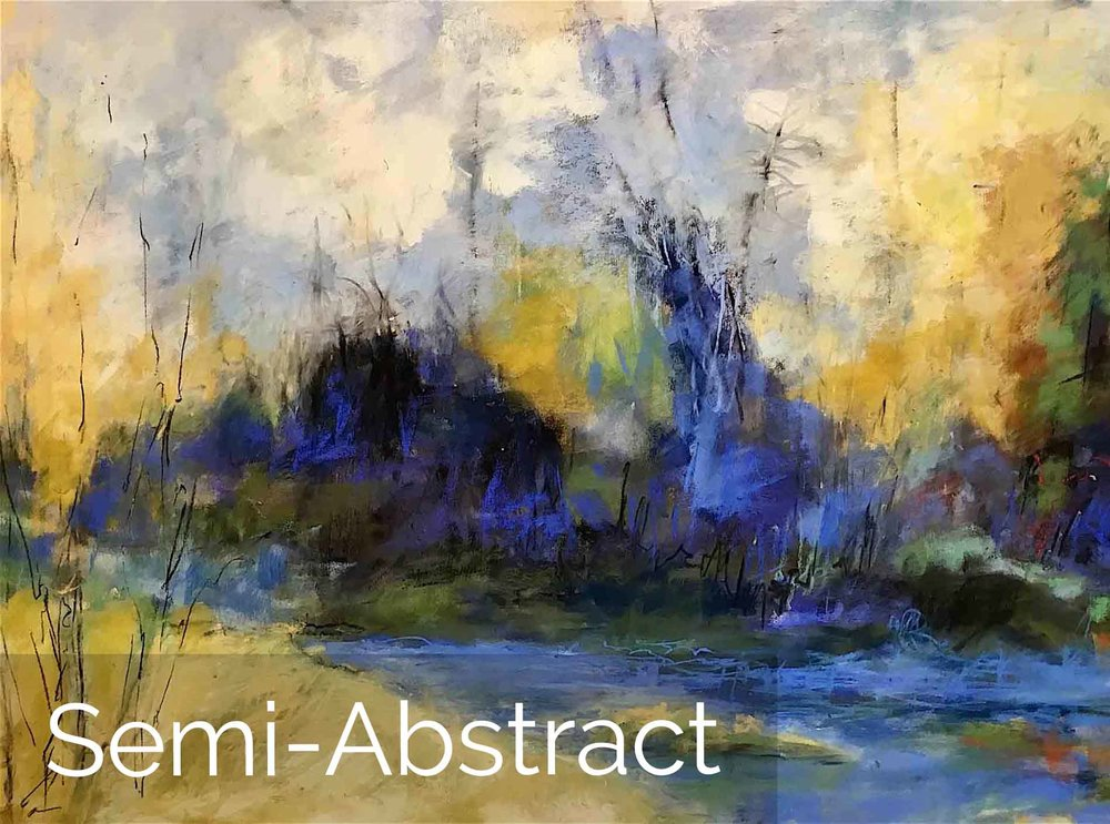 Michèle J. Kenna Semi-Abstract Paintings for Sale - Acrylic, Mixed Media, Pastel