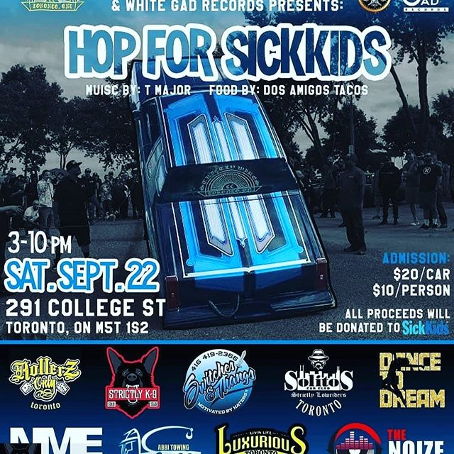 Come out this Saturday for an awesome event! All proceeds go to SickKids. Come out and support!!!!!