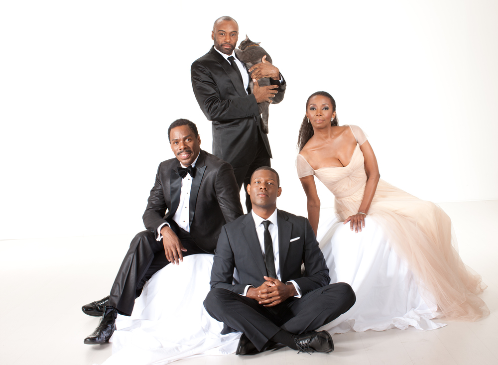Colman Domingo, Maurice McRae, Corey Jackson, Sharon Washington | Original cast of Wild With Happy at the Public Theater