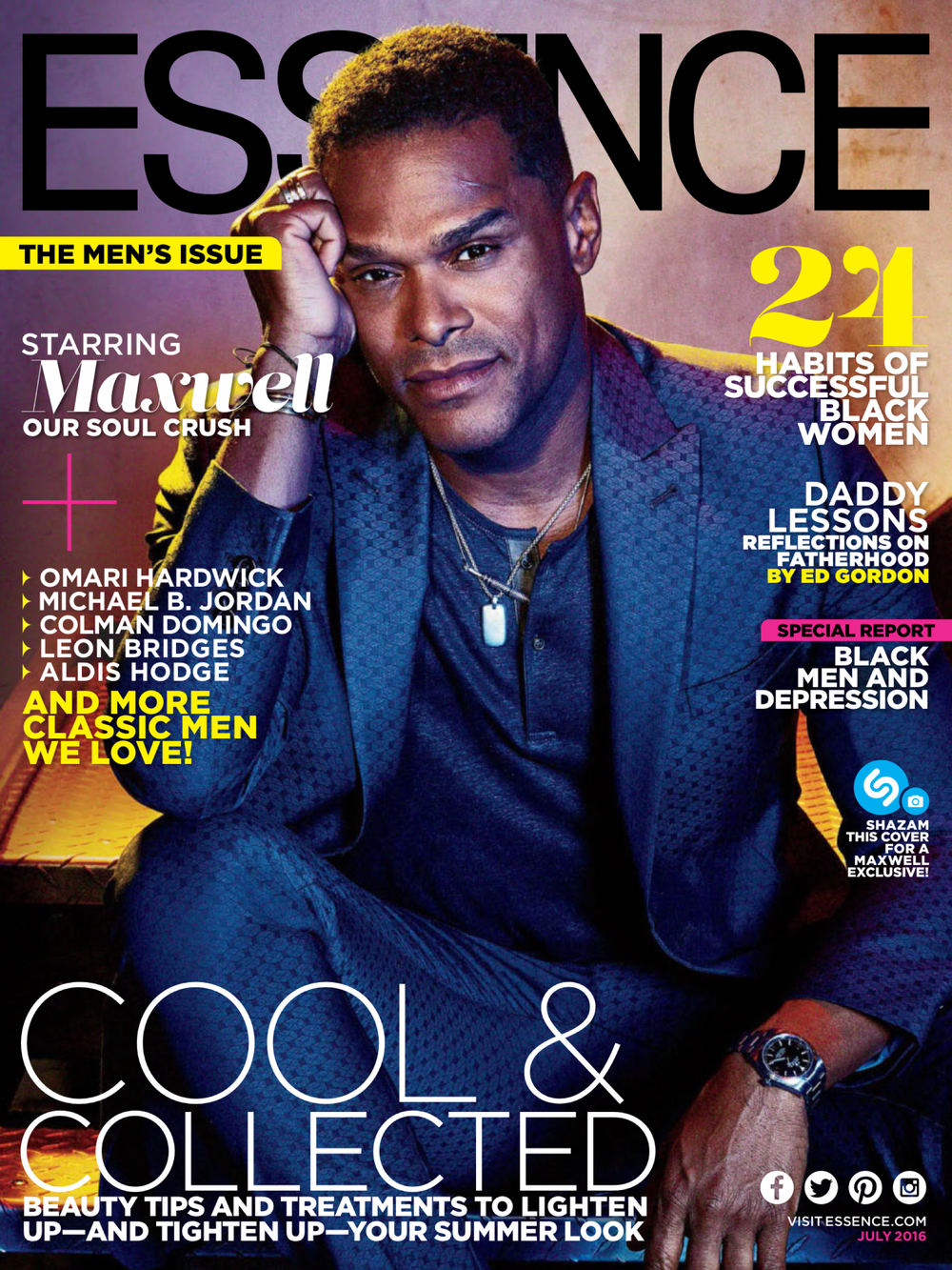 Essence Magazine July 2016 Classic Men Issue Cover | Colman Domingo