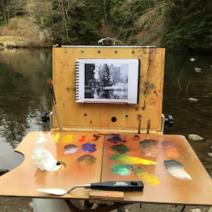 VIDEOS   Plein air painting in oils -  my process .