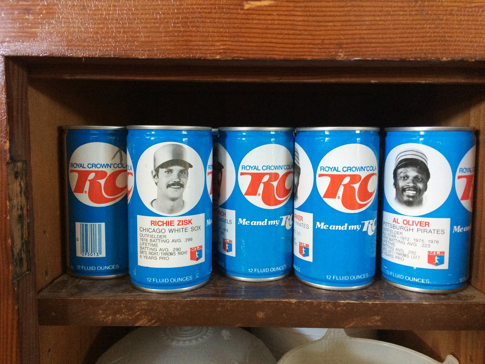 Random find - old RC Cola cans with baseball players on them.