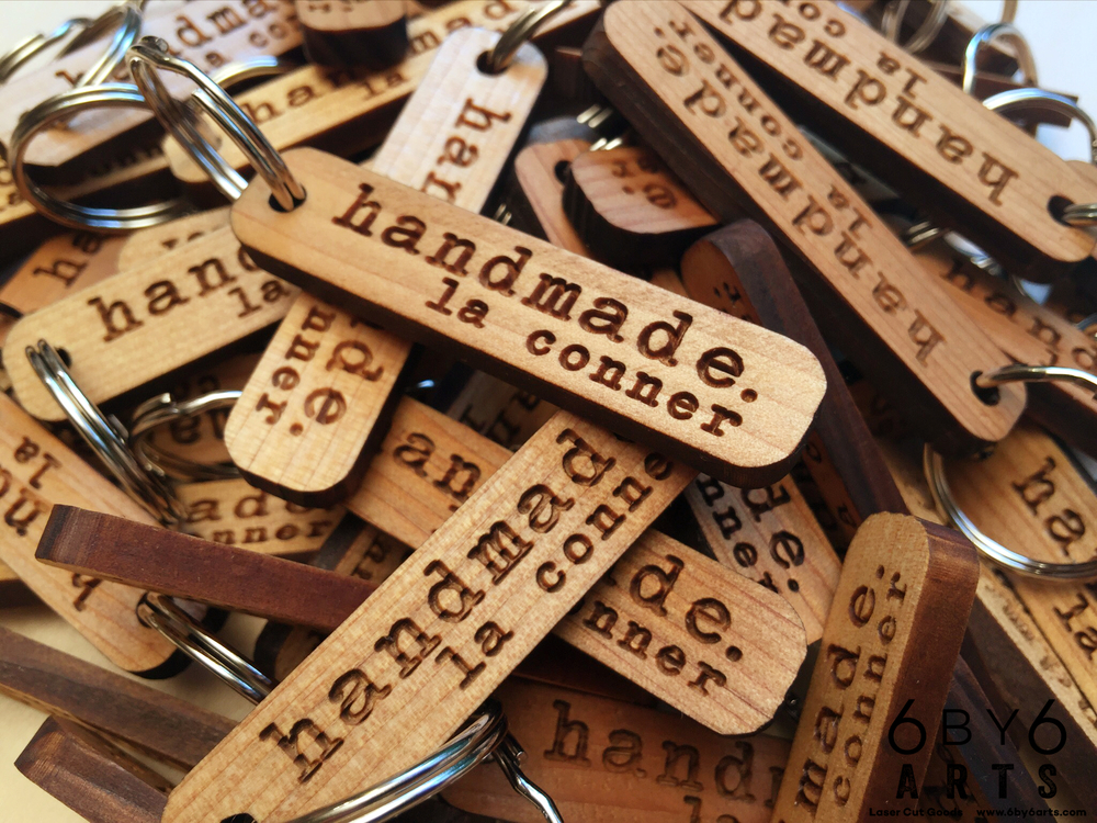 Custom reclaimed wood keychains for handmade. la conner. (wood sourced from Skagit County, WA)