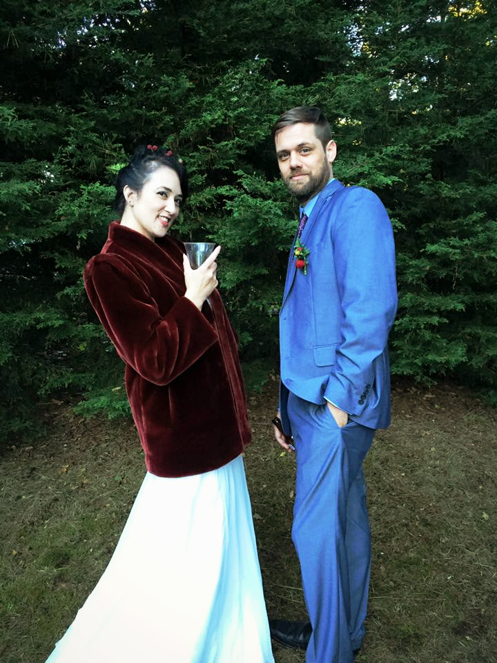 John and Thea on their wedding day. Appropriately taken by the friend who introduced them. September 3, 2016