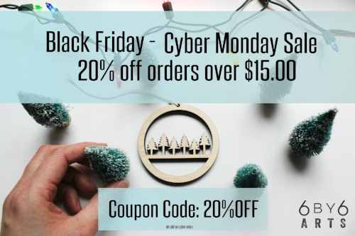 6by6Arts Black Friday Cyber Monday Sale