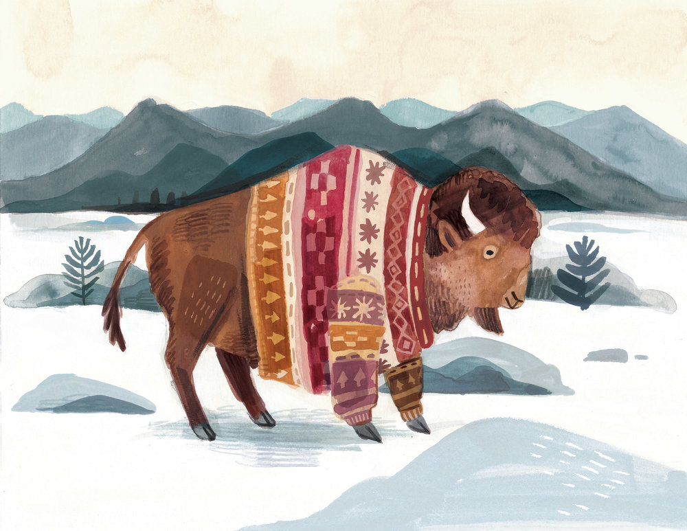 Buffalo in knitwear.jpg