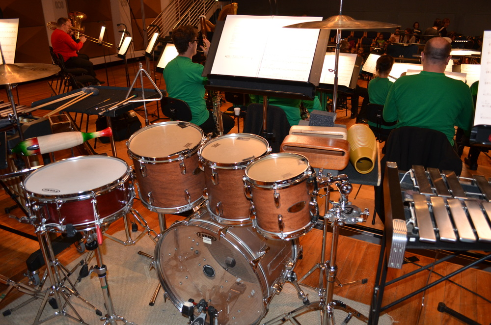 MSO percussion setup from premiere performance May 2013