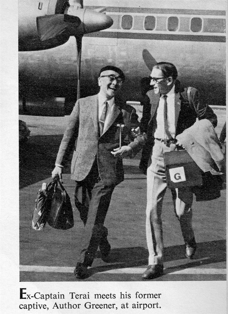 Captor and captive reunited at Osaka airport, 5 October 1966 (Courtesy of  Life , 15 May 1967)