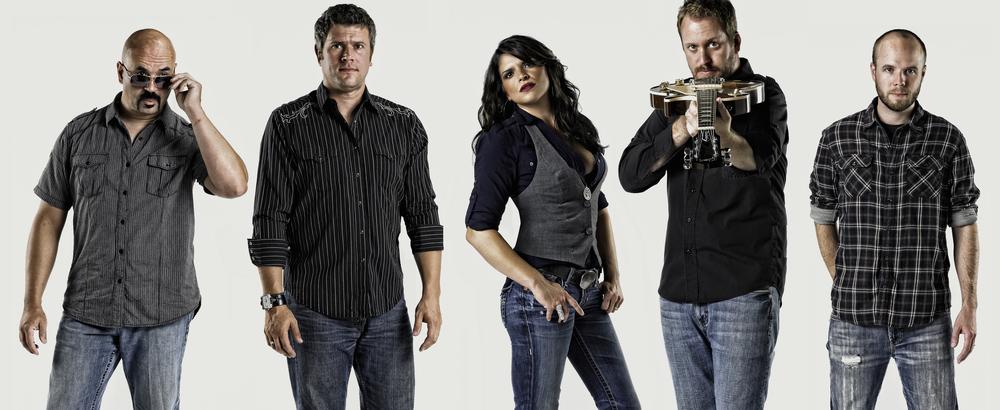 L to R : Sean Feather, Drums. Brandon Tushkowski, Guitar. Katie Mack, Vocals. Brendan Shea, Guitar + Vocals. Scott Oakes, Bass.