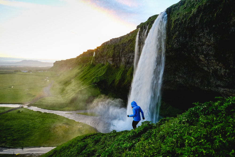 Seljalandsfoss at sunrise