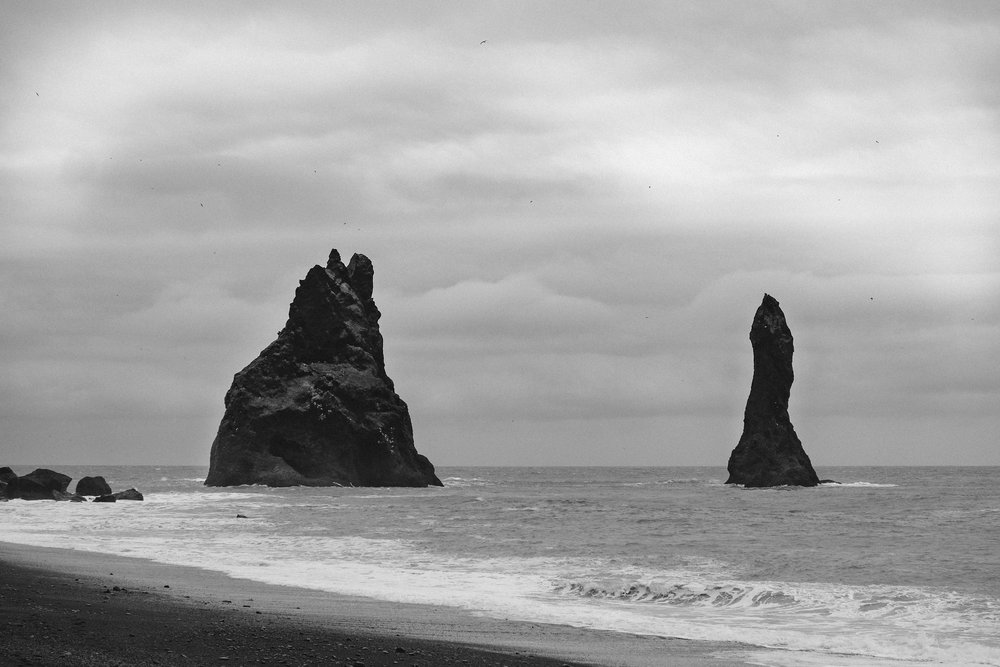 Sea stacks off of Reynisfjara