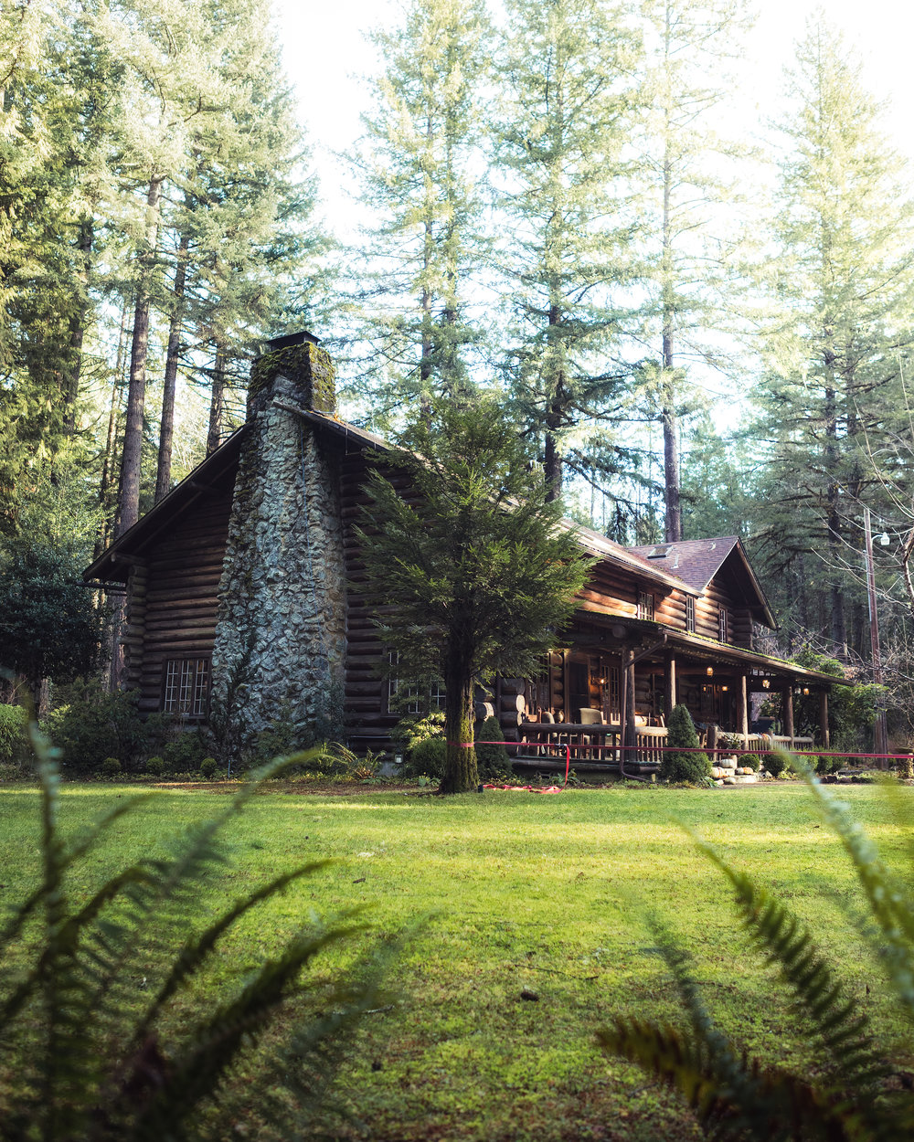 Morning light on our cabin. Shot by Michael Matti