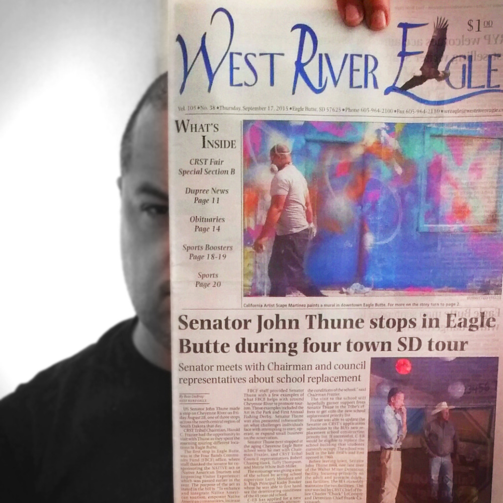 In the end, it was a great flattering touch to be on the front page of the newspaper!