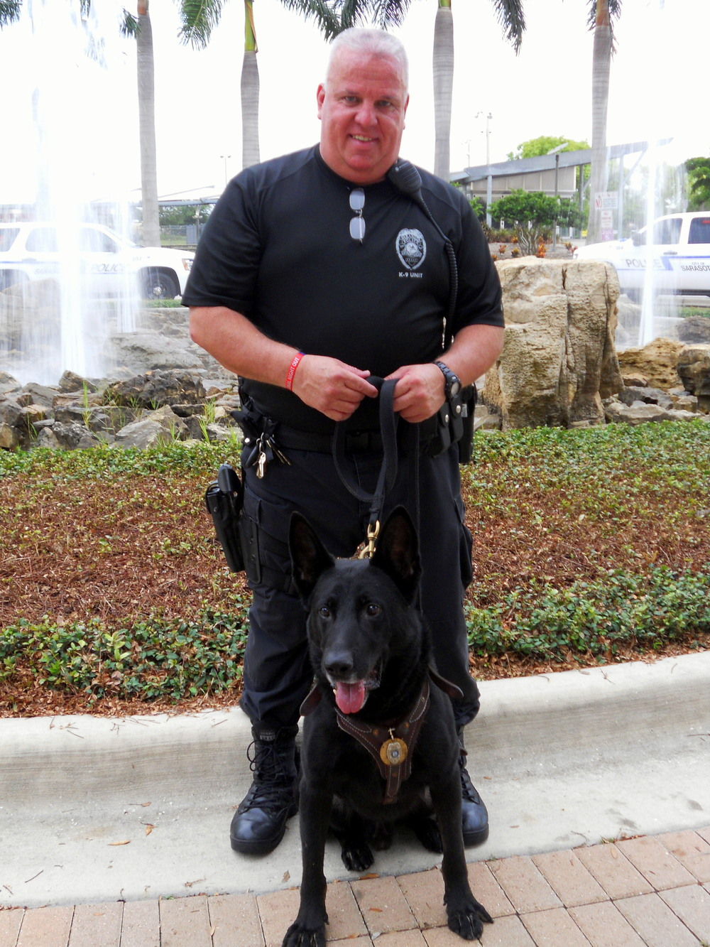 Sergeant Michael McHale and K9 Nero during National Night Out in August 2013