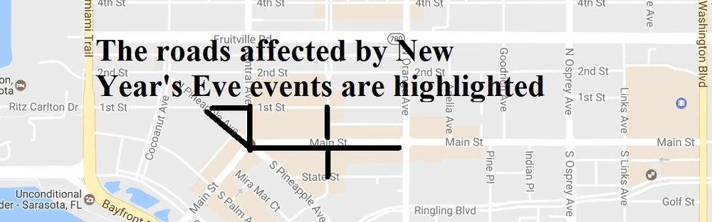 New Year's Eve Celebration Safety Reminders & Road Closures — Sarasota Police Department