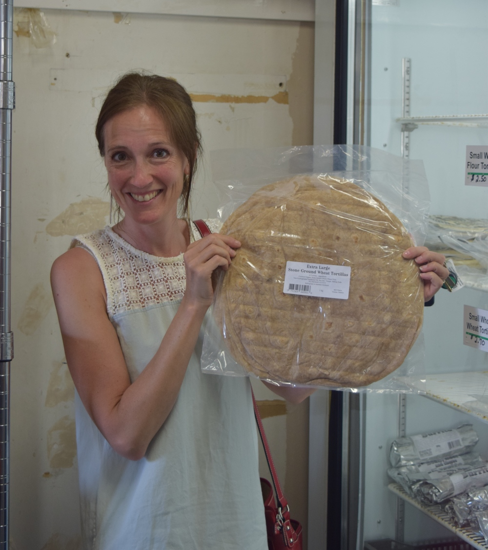 Alisa Murphy buys her favourite tortillas in Aylmer, Ontario