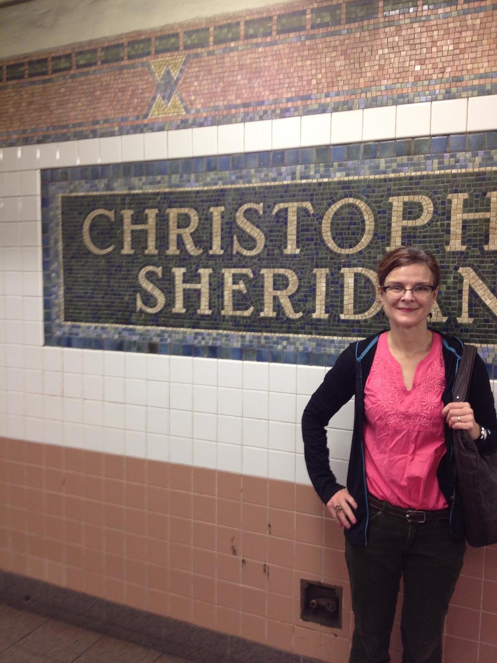 Heather Barrett in Greenwich Village, New York City.