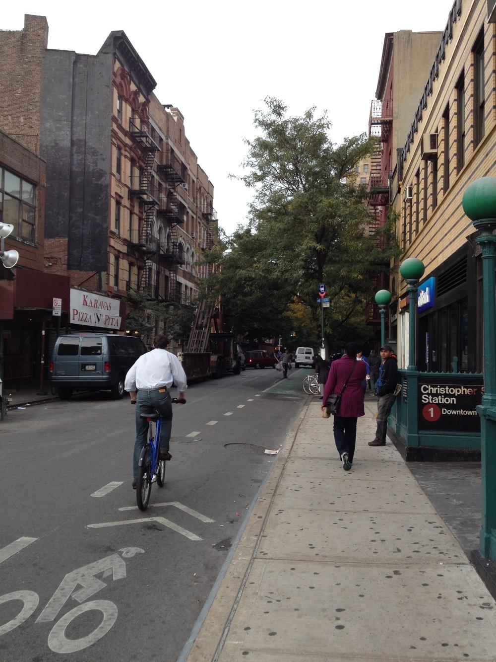 Heather's neighbourhood in Greenwich Village, New York City.