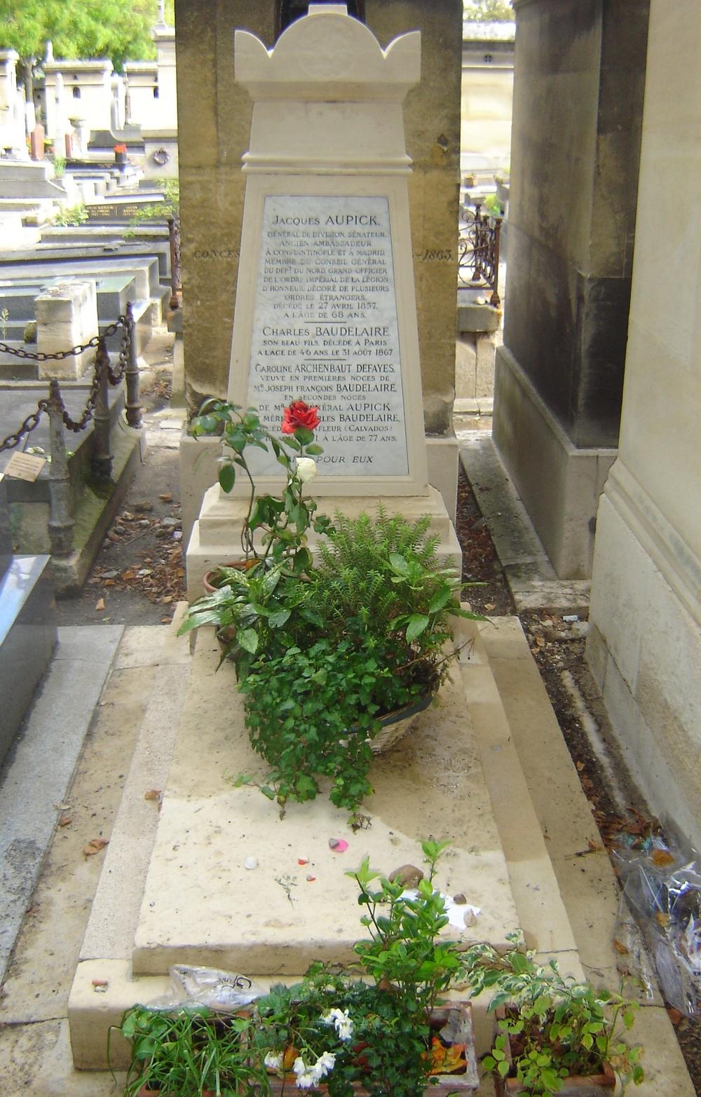 Montparnasse Cemetery, Paris, France (Grave of Charles Baudelaire)