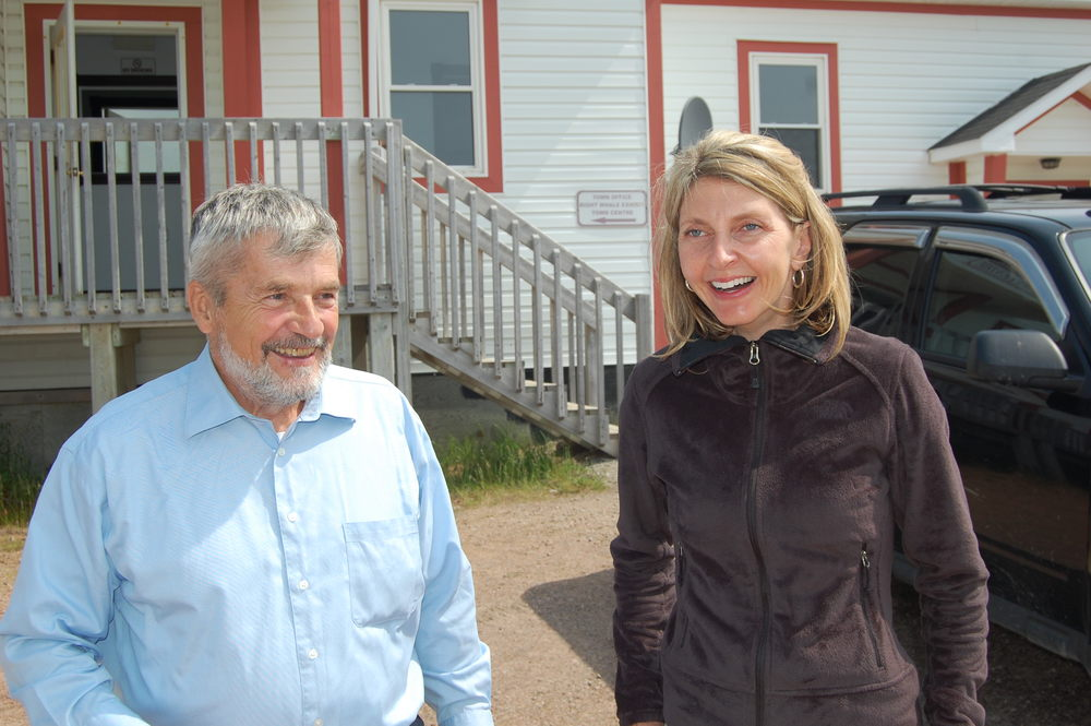 Underwater Archaeologist Robert Grenier and Jane Adey. Red Bay, Labrador 2013