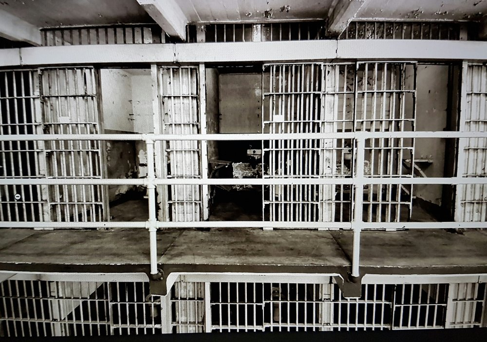 Cell block at Alcatraz where Al Capone spent 4 1/2 years. Courtesy of  www.alcatrazhistory.com