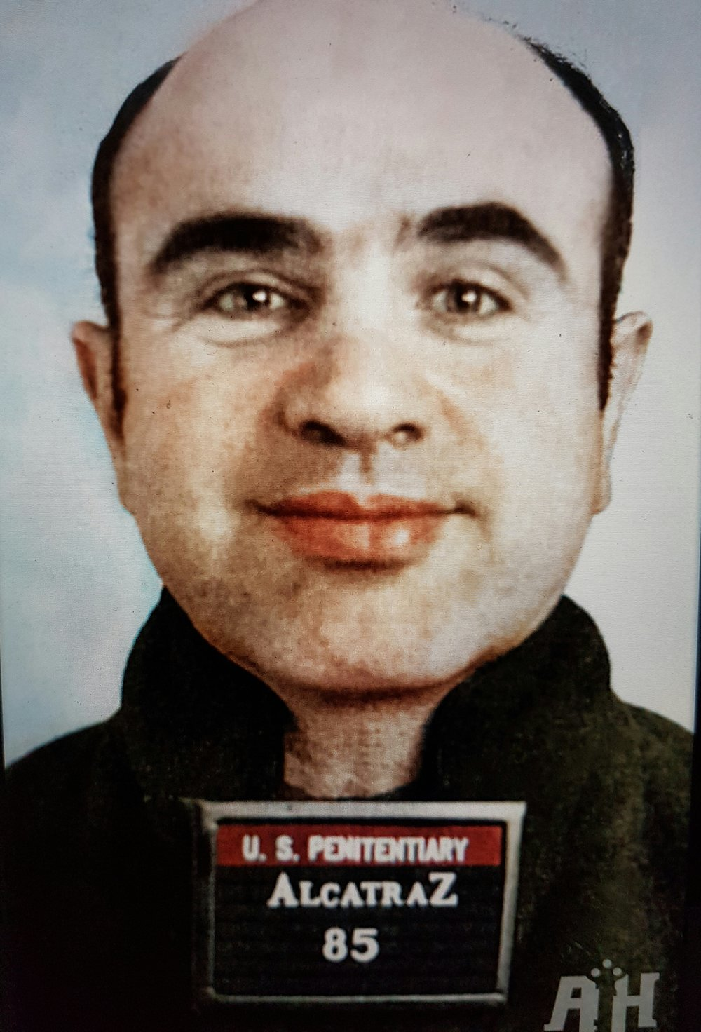 Photo of Al Capone at Alcatraz prison. Courtesy of  www.alcatrazhistory.com
