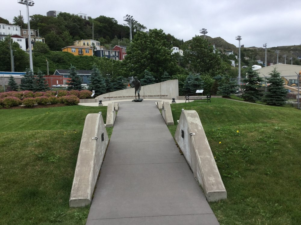 Terry Fox statue, St. John's Newfoundland. (Photo: Sandra Adey)