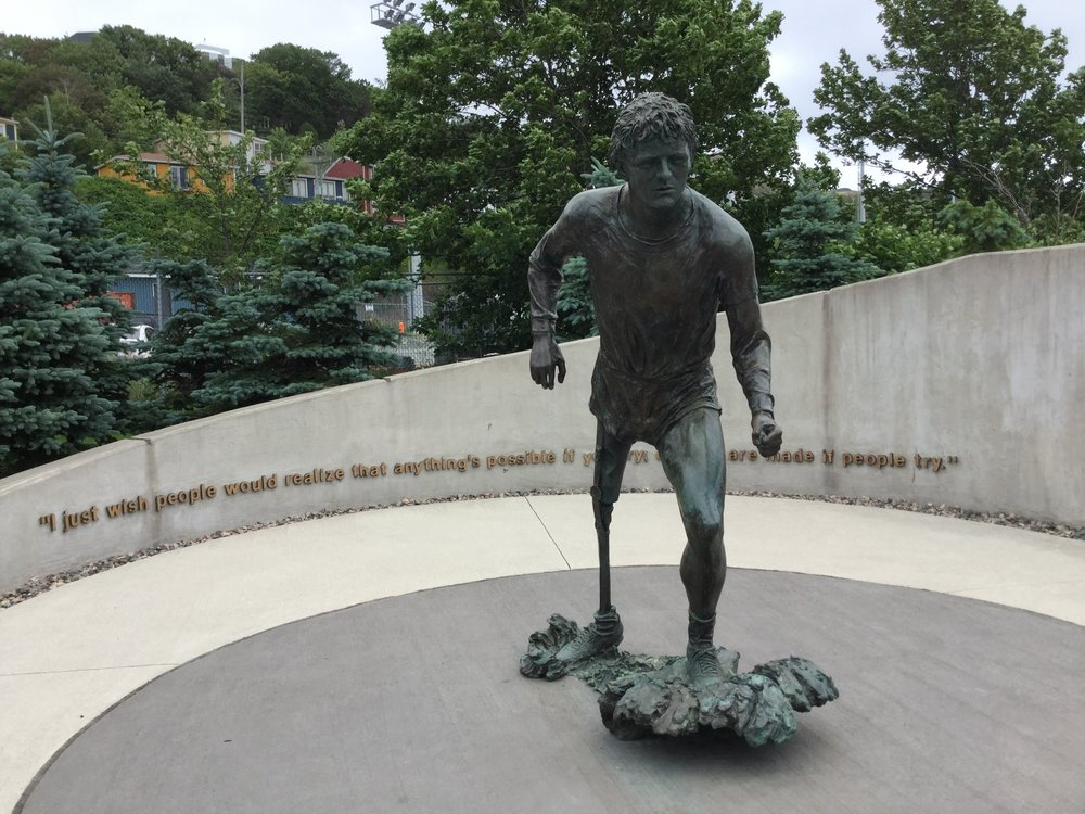 Terry Fox status, St. John's, Newfoundland. (Photo: Sandra Adey)