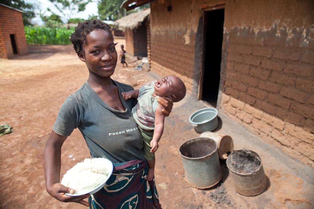 Beneficiary at Chilota village, TA Njerwa in Lilongwe, Malawi