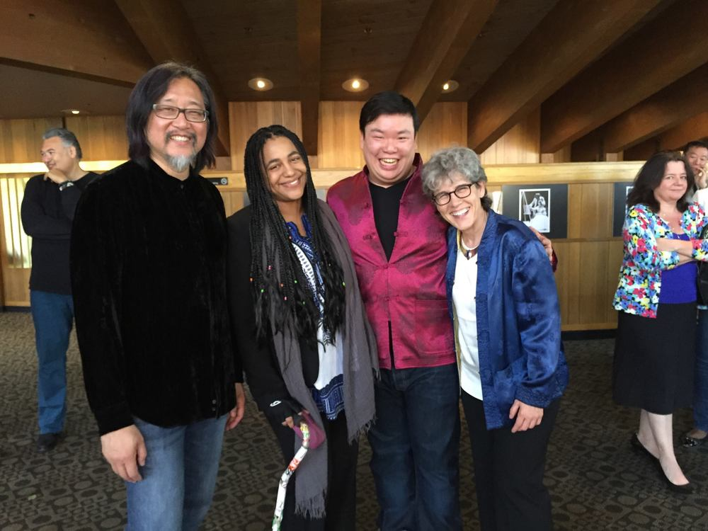 With Director Stan Lai, Community Producer Claudia Alick and Dramaturg Extraordinaire Lue Douthit after the Opening of Secret Love in Peach Blossom Land at Oregon Shakespeare Festival. (2015)