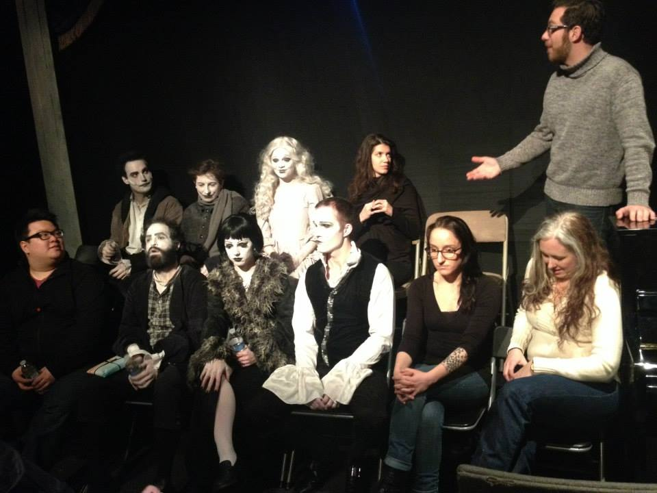 Talkback with the audience after a performance of Stolen Chair Theatre Company's The Man Who Laughs(2013)
