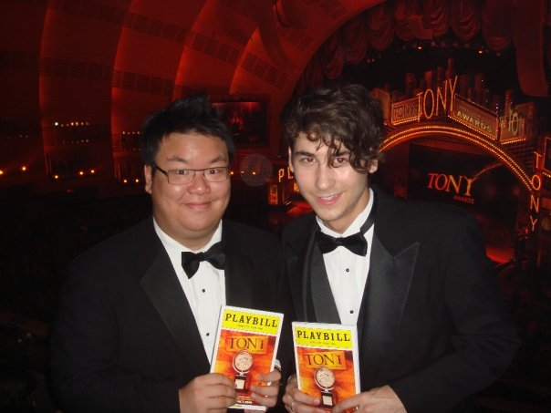 With pal/ actor Michael Burbach at the Tony Awards. (2009)